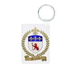 BRIDEAU Family Crest Keychains
