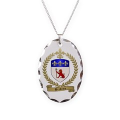 BRIDEAU Family Crest Necklace