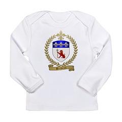 BRIDEAU Family Crest Long Sleeve Infant T-Shirt