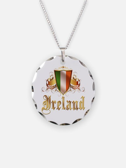 Irish pride Necklace Circle Charm