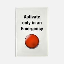 Panic Button Rectangle Magnet