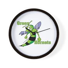 Green Hornets Wall Clock