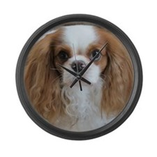 Cuddly Cavalier Chester's Large Wall Clock