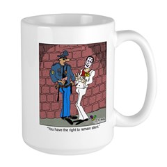 The Right To Remain Silent Large Mug