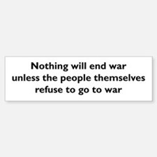 End War Sticker (Bumper)