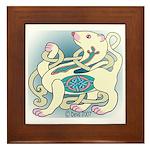Celtic Albino Ferret Framed Tile