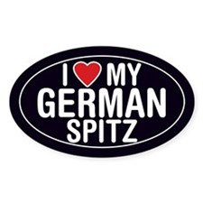 I Love My German Spitz Oval Sticker/Decal