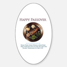 Happy Passover Oval Decal
