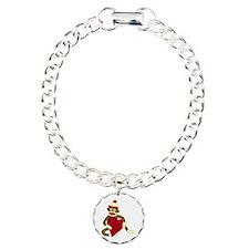 Sock Monkey Heart Bracelet