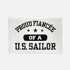 Proud Fiancee of a US Sailor Rectangle Magnet