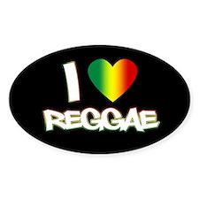 "I ""Love"" Reggae Decal"