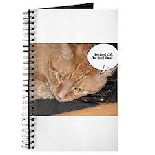 Orange Tabby Cat Humor Journal