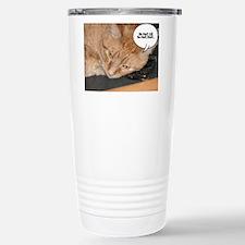 Orange Tabby Cat Humor Stainless Steel Travel Mug