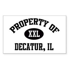 Property of Decatur Rectangle Decal