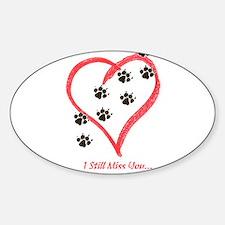 Cute Heart footprints Sticker (Oval)