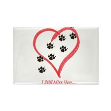 Cute Heart footprints Rectangle Magnet (10 pack)