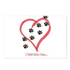 Unique Heart footprints Postcards (Package of 8)