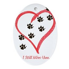 Cute Mans best friend Ornament (Oval)