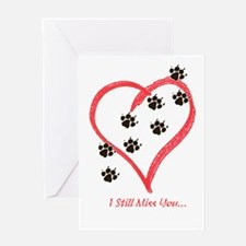 Unique Heart footprints Greeting Card