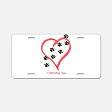 Cute Heart footprints Aluminum License Plate