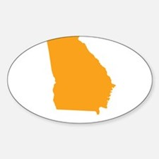 Orange Georgia Sticker (Oval)