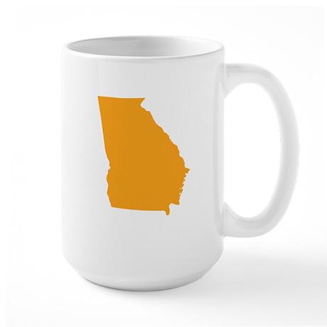 Orange Georgia Large Mug