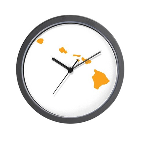 Orange Hawaii Wall Clock