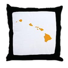 Orange Hawaii Throw Pillow