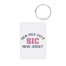 Sea Isle City NJ - Varsity Design Keychains
