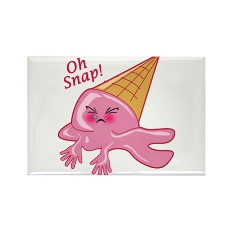 Oh Snap Funny Ice Cream Rectangle Magnet (100 pack