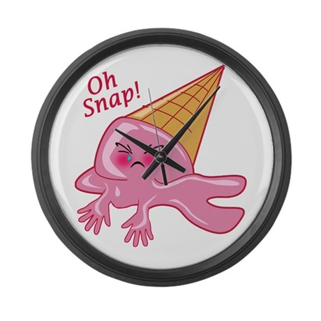 Oh Snap Funny Ice Cream Large Wall Clock