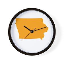 Orange Iowa Wall Clock