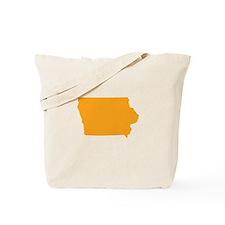 Orange Iowa Tote Bag