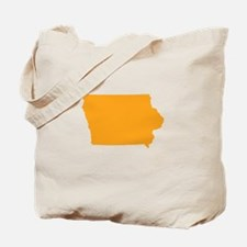 Orange Iowa Tote Bag