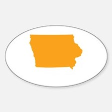 Orange Iowa Stickers