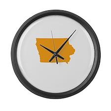 Orange Iowa Large Wall Clock