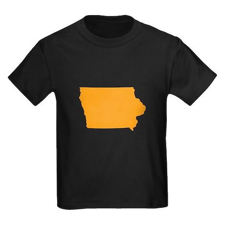 Orange Iowa Kids Dark T-Shirt
