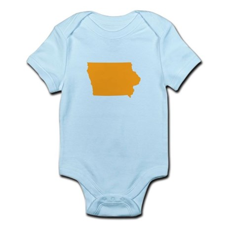 Orange Iowa Infant Bodysuit