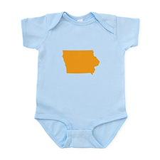 Orange Iowa Infant Bodysuit