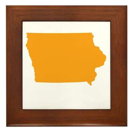Orange Iowa Framed Tile