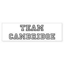 Team Cambridge Bumper Bumper Sticker