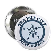 "Sea Isle City NJ - Sand Dollar Design 2.25"" Button"