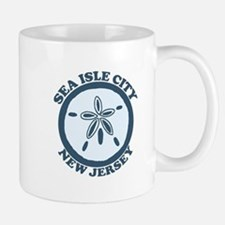 Sea Isle City NJ - Sand Dollar Design Mug