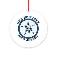 Sea Isle City NJ - Sand Dollar Design Ornament (Ro
