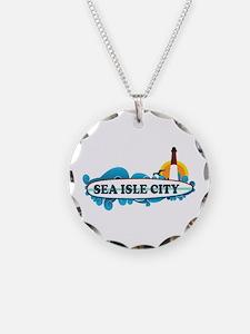 Sea Isle City NJ - Surf Design Necklace