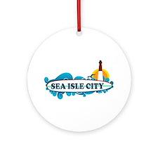 Sea Isle City NJ - Surf Design Ornament (Round)