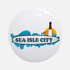 Sea Isle City NJ - Surf Design Ornament (Round)