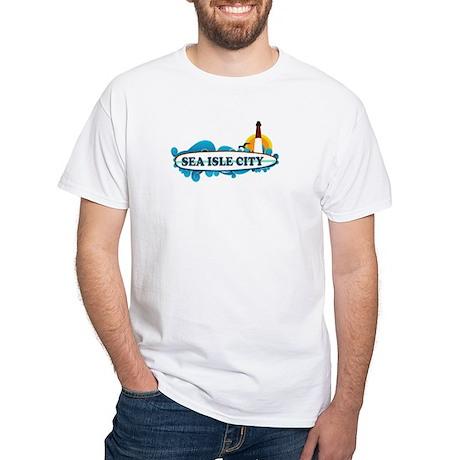 Sea Isle City NJ - Surf Design White T-Shirt