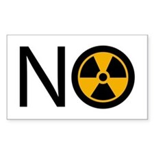 No to Radiation and Nuclear P Decal