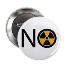 "No to Radiation and Nuclear P 2.25"" Button"